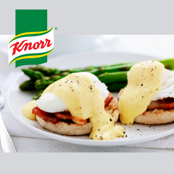 KNORR Hollandaise On Eggs Benedict