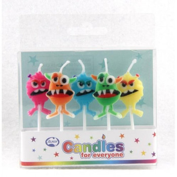 Candles Monsters 5Pk