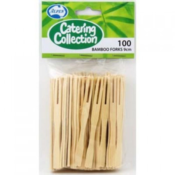 Bamboo Cocktail Forks 100Pkt