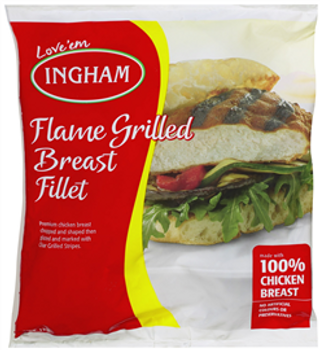 Inghams Flamed Grilled Chicken Breast Fillet 1kg Packet