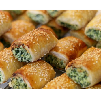 Cocktail Spinach & Cheese Rolls 24 Pack