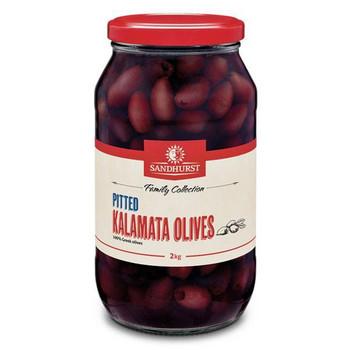 Olives Kalamata Pitted 2kg - Sandhurst