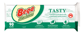 Bega Tasty Sliced Cheese Carton 8 x 90Pk