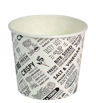 Hot Chip Cups 8oz Deli Print 50 Pack