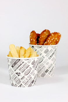 Hot Chip Cups 8oz Deli Print