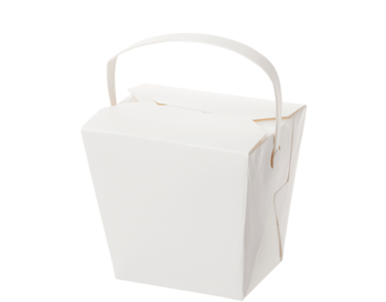 Cardboard Noodle Box With Handle 16oz Carton 250