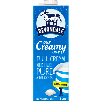Devondale Long Life Full Cream Milk Carton 10 x 1 Litre