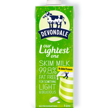 Devondale Long Life Skim Milk Carton 10 x 1