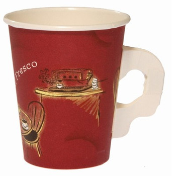 Alfresco Cardboard Cup With Handle 8oz Carton x 1000