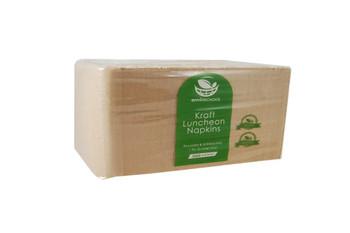 Serviettes Brown Kraft 1Ply Lunch Pkt x 500