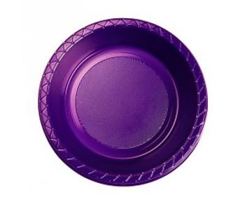 Bowl Plastic 172mm Purple 20 Pk - Five Star