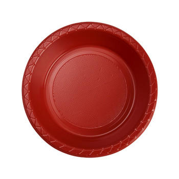 Bowl Plastic 172mm Red 20 Pk - Five Star