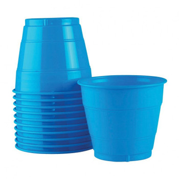 Cup Blue Electric Plastic 285ml 20 Pk