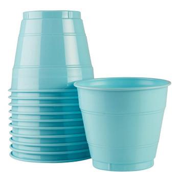 Cup Blue Pastel Plastic 285ml 20 Pk