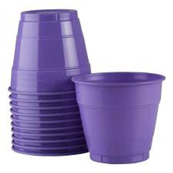 Cups Purple Plastic 285ml 20 Pk