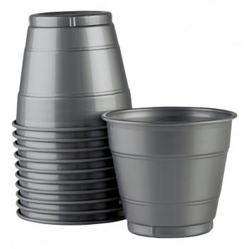 Cups Silver Plastic 285ml 20 Pk