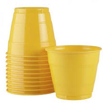 Cups Yellow Plastic 285ml 20 Pk