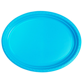 Plate Oval 315mmx245 Blue Electric 20 Pkt