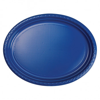Plate Oval 315mmx245 Blue True 20 Pkt