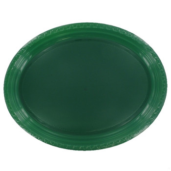 Plate Oval 315mmx245 Green Hunter 20 Pkt