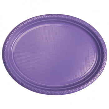 Plate Oval 315mmx245 Lilac 20 Pkt