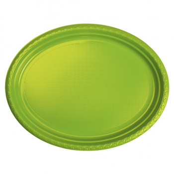 Plate Oval 315mmx245 Lime 20 Pkt