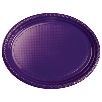 Plate Oval 315mmx245 Purple 20 Pkt