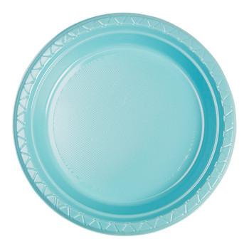 Plate Round 223mm Blue Pastel 20 Pkt