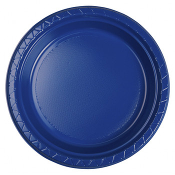 Plate Round 223mm Blue True 20 Pkt