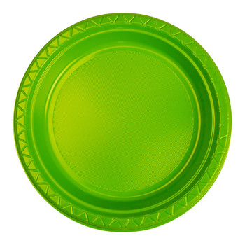 Plate Round 223mm Lime 20 Pkt