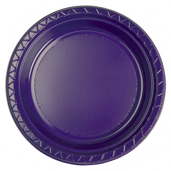 Plate Round 223mm Purple 20 Pkt