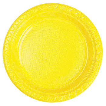 Plate Round 223mm Yellow 20 Pkt