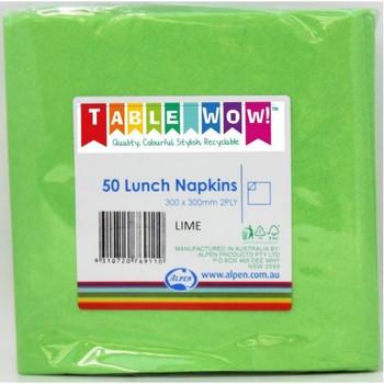 Serviettes Lime Lunch 2Ply 100 - Alpen