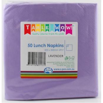 Serviettes Lavender Lunch 2Ply 100 - Alpen