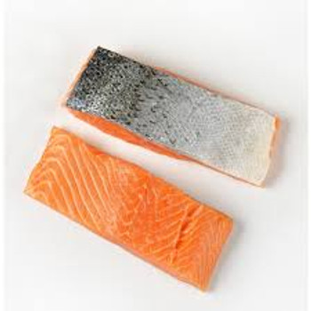 Atlantic Salmon Portions Skin on raw