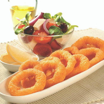 Pacific West Classic Natural Crumbed Squid Rings 1kg