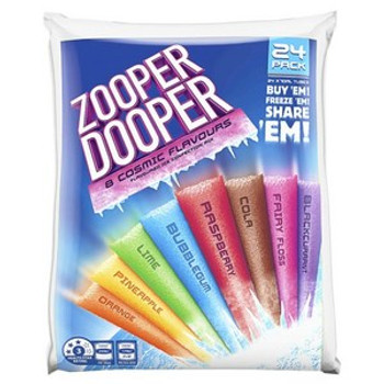 Zooper Dooper Ice Blocks 8 Cosmic Flavours 24 Pack