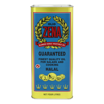 Zena Blended Vegetable Oil 4 litre can