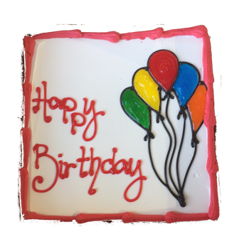 Happy Birthday Ice Cream Cake 8 Inch Square