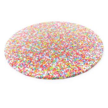 """Round Cake Board Sprinkles  10"""""""