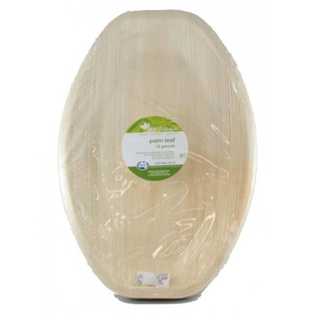 "Palm Leaf Platter Medium Oval 14"" x 10"""
