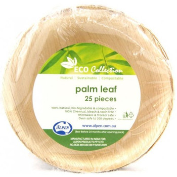 "Round Palm Leaf Bowl 5"" 25Pk"