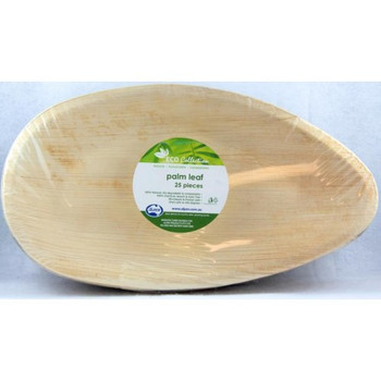 "Oval Palm Leaf Plate 12"" 25Pk"