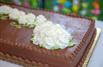 NAKED FULL SLAB CHOCOLATE CAKE DECORATED