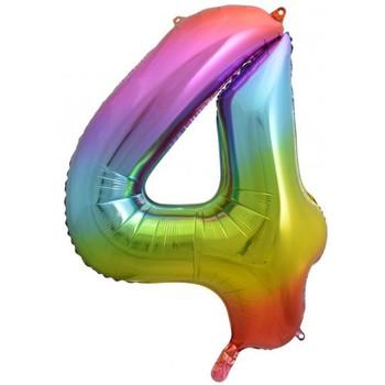Foil Balloon Number 4 Rainbow 86cm
