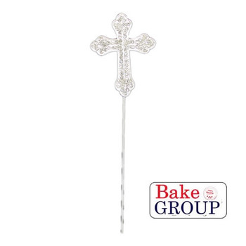 Diamante Cross Cake Topper