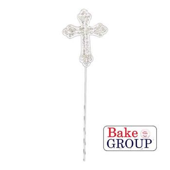 Diamante Cross Cake Topper