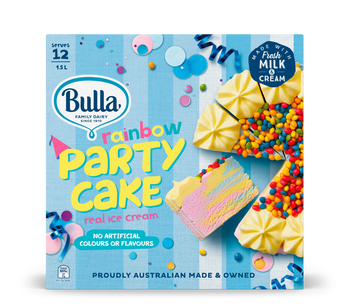 Bulla Rainbow Ice Cream Party Cake