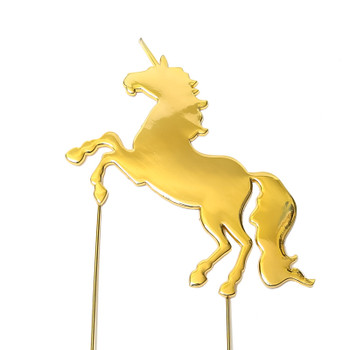 Unicorn Cake Topper Gold Plated