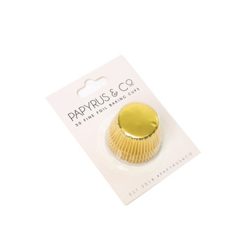Mini Gold Baking Cups 50 Pack